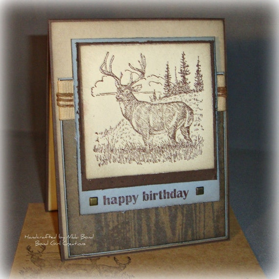 Deer Buck Hunting Masculine Themed By BondGirlCreations26