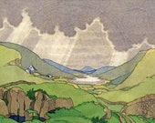 Scotland, Scottish Highlands, Durness, Nature, Scottish Hills, Landscape, 1960s Print