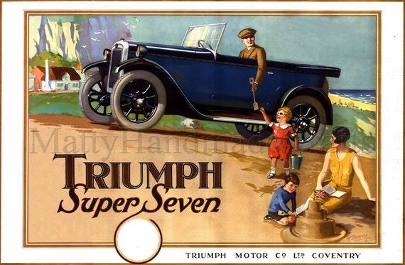 Triumph Car, Triumph Super Seven 1930s Print