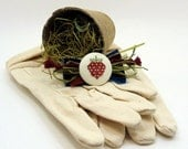 Strawberry Cross Stitch Garden Gloves