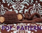 Monkey Body Hat PDF Crochet Pattern