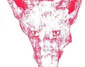 Vulpes Red gocco print