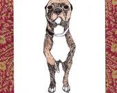 Bad Little Dog gocco print