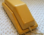Vintage Mod Phone in Yellow Retro Style for your Home