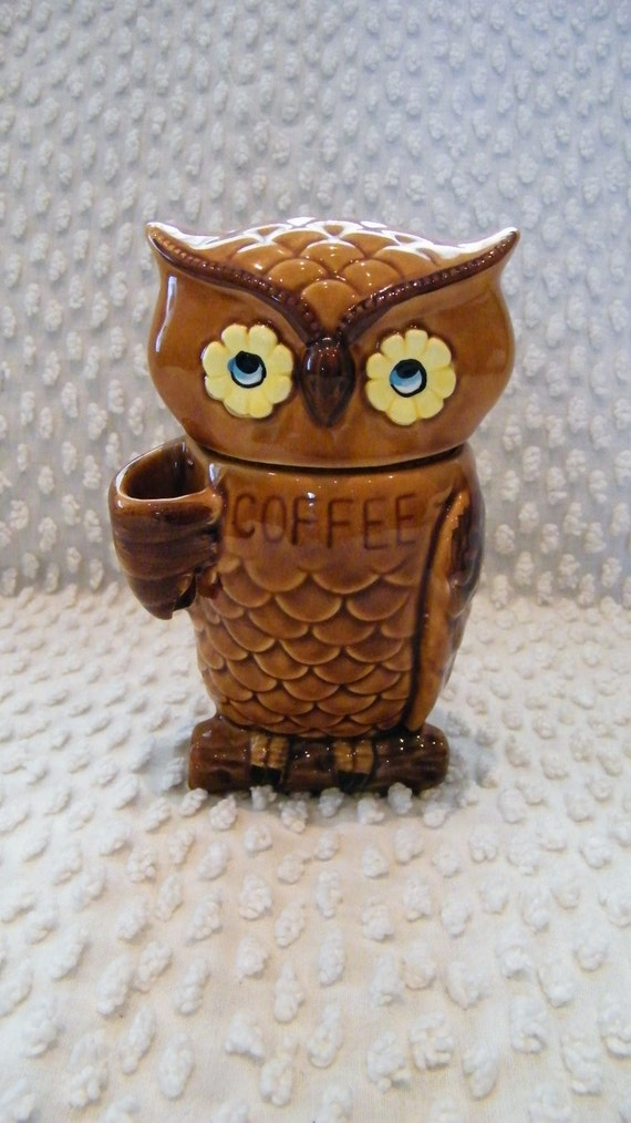 Owl Coffee Canister By Hmmosko On Etsy