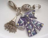Turkish caftan keychain or bag charm - Purple