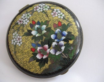 Antique Chinese Cloisonne Compact