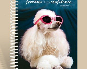 Journal / Notebook / Prayer Journal Personalized - Poodle Confidence - Ephesians 3:12/