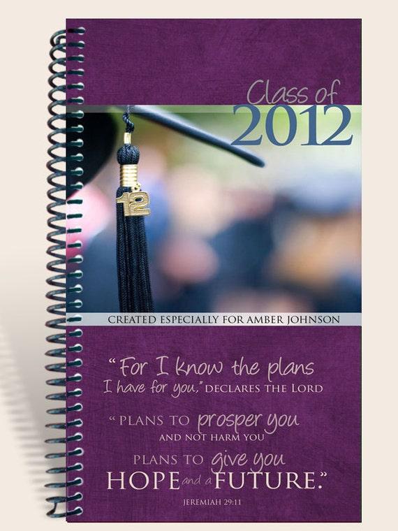 Personalized Graduation Journal - Purple - Jeremiah 29:11