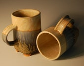 Footed Coffee Mugs-Pair