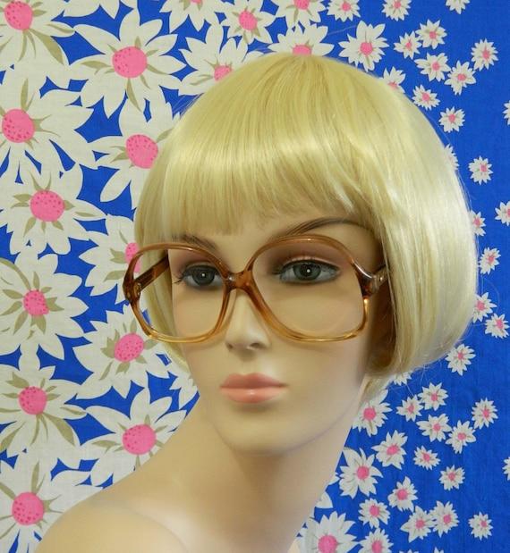 Eyeglass Frames 1980s Oversized Honey Unisex