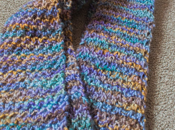 Moss Stitch Scarf Knitting Pattern : Items similar to Moss Stitch Knit Scarf on Etsy