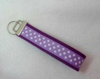Purple Key Holder , Purple Wrist band , Wristlet for Keys , Key Fob