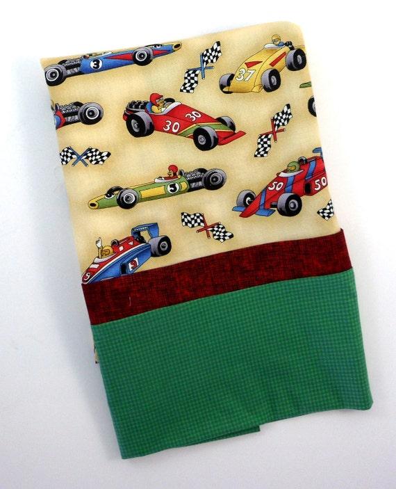 Boys Pillowcase Race Car Pillowcase Standard Size Pillowcase