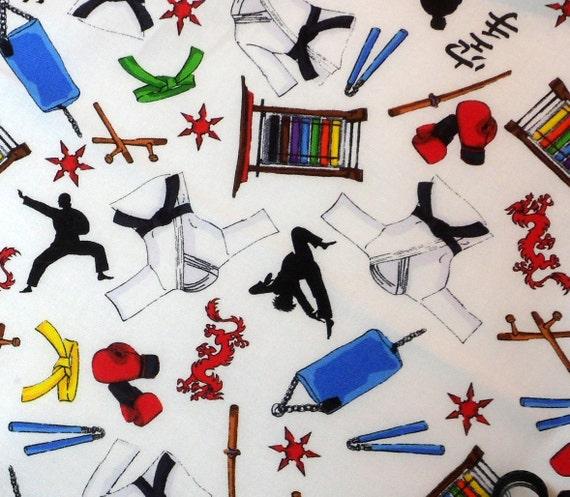 Cotton Fabric Karate Print, Timeless Treasures
