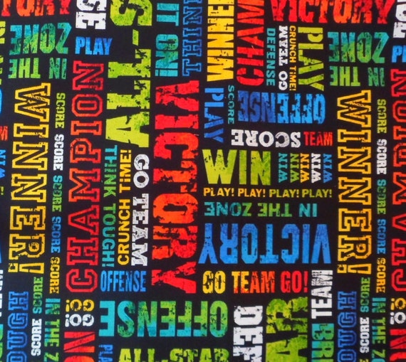 Reserved for Kristine, 2 3/4 yards Sports Fabric, Go Team,  Timeless Treasures