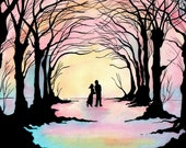Happy Ever After -Valentine Romantic Art -