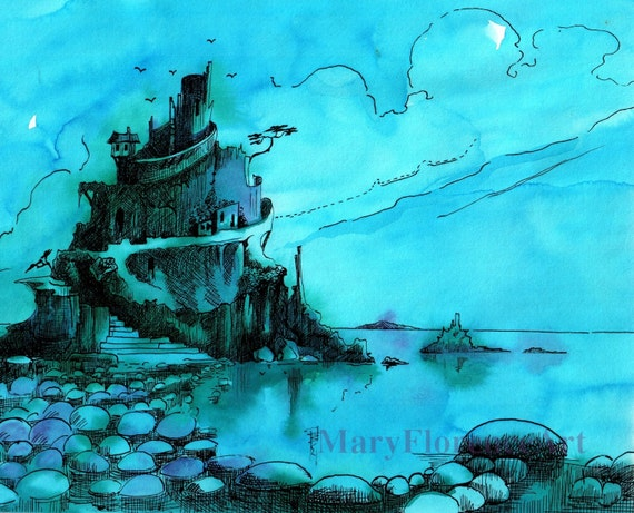 Goblin Fortress- Hand painted limited edition print 10 x 8 inches