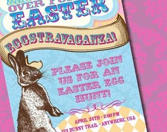 DIY Printable Easter Party Egg Hunt Invitation
