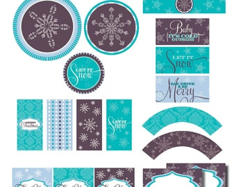 DIY Printable Baby It's Cold Outside Party Package