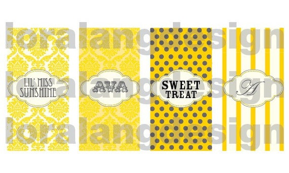 DIY Printable Little Miss Sunshine Mini Candy Bar Wrappers