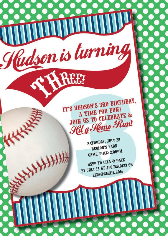 DIY Printable Vintage Baseball Birthday Party Invitation by – Free Printable Baseball Birthday Invitations