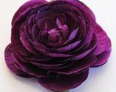 Violet Floral Hair Clip.