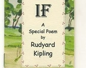 MINIATURE BOOK : Rudyard Kipling IF a Special Poem / with unique artwork