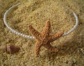 natural sugar starfish and danity white pearls headband