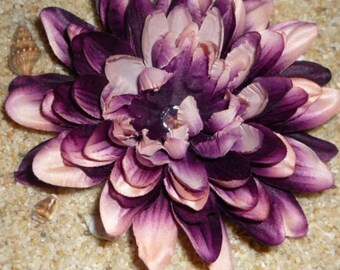 AMAZING PURPLE and PINK flower hair clip