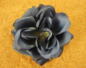 Dark blue rose flower hair clip PERFECT
