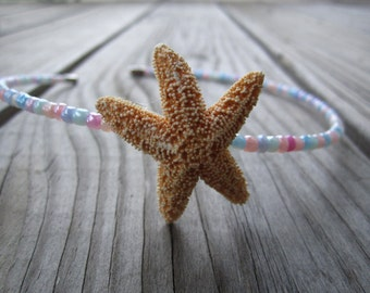 natural sugar starfish and danity pastel headband
