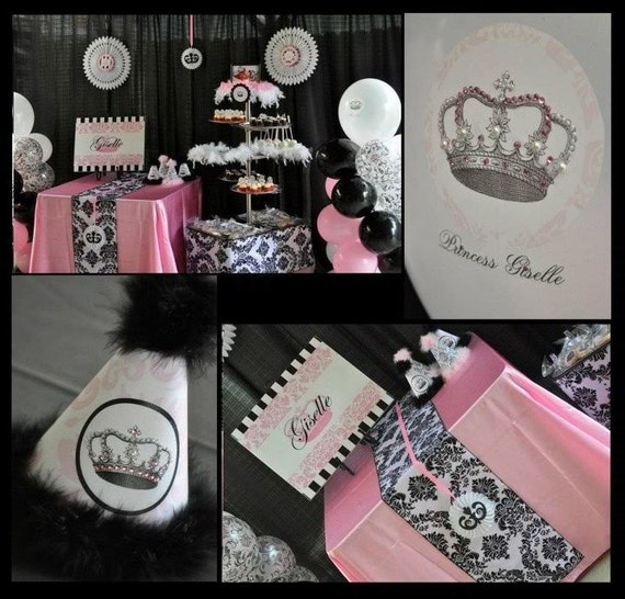 vintage princess decorations for birthday party or baby shower girls
