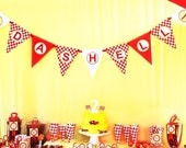 Race Car Party Banner - Red Yellow - As Seen On Hostess with the Mostess - Gwynn Wasson Printables