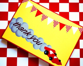 PRINTABLE Thank You Cards - Race Car Party