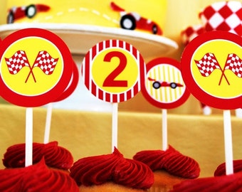 PRINTABLE Party Circles - Race Car Party