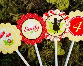 PRINTABLE Party Circles - Woodland Fairy Party