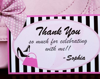 PRINTABLE Favor Tag - Sweet Sophia Collection Inspired by Vintage Barbie