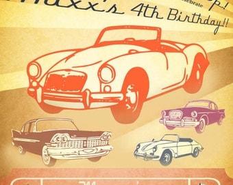 Classic Car Invitation - Vintage Car Show Collection - Gwynn Wasson Designs PRINTABLES