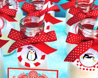 Winter ONEderland Wonderland Cupcake Toppers Party Circles - Gwynn Wasson Designs PRINTABLES