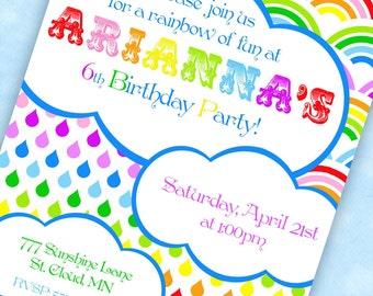 RAINBOW Party Invitation - Rainbow of Fun Collection - Gwynn Wasson Designs PRINTABLES