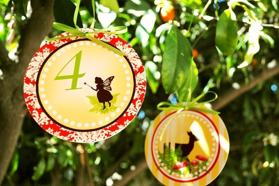 PRINTABLE 4 inch Party Circles - Woodland Fairy Party