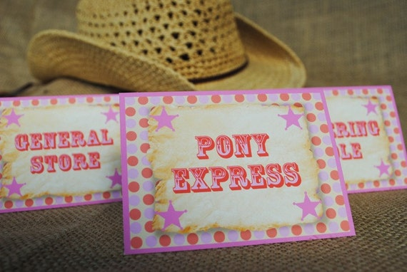 PRINTABLE Table Label - Modern Rodeo Cowgirl Collection
