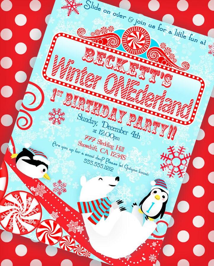 Winter ONEderland Invitation Winter Wonderland Invitation