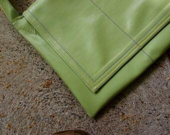 Apple Green Messenger Bag