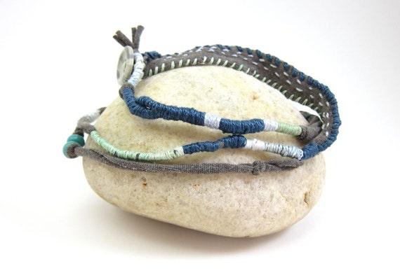 RESERVED FOR TERRY- First Installment Payment for lot of jewelry Boho Fiber Wrap Bracelet no. 4
