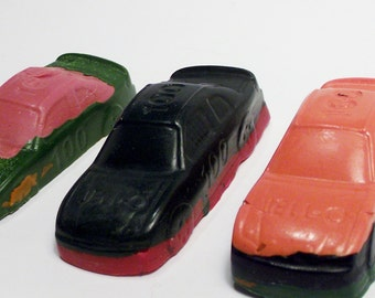 Large Recycled Car Crayons Multi color layered Upcycled toys boys or girls children coloring gift bags stuffers birthday parties