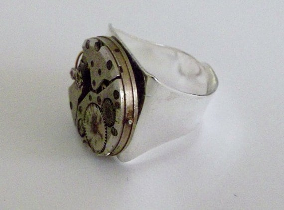RESERVED For The Random Ramblings of Stay At home Mum.   Mens Steam Punk Ring that is Handsome and Fun to Wear