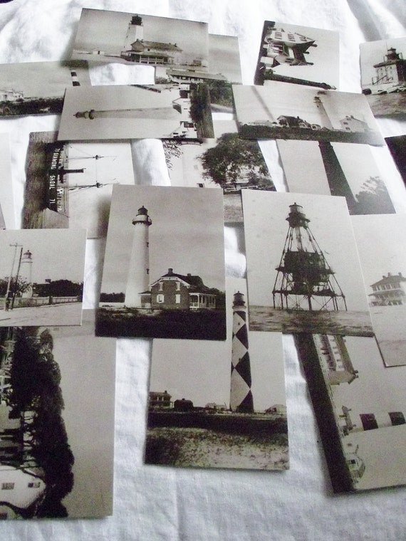 RESERVED FOR BEE Vintage/ Antique Lighthouse Post Cards