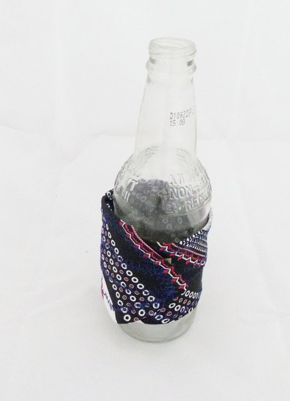 Drink Holder Tie One On Drink or Beer Holders Mug Hugger Soda Mens Beer Coffee Tea Cuff Upcycled Men Gift Eco Friendly